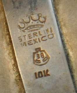 RARE COLT 1911 PISTOL GUN GRIP SET SILVER GOLD OVERLAY HORSES   MEXICO