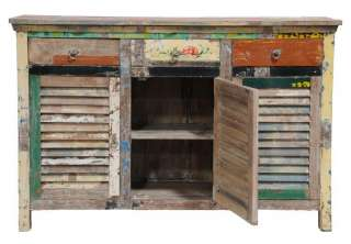Vintage Multi colored Shutter Cabinet spectacular Reclaimed wood
