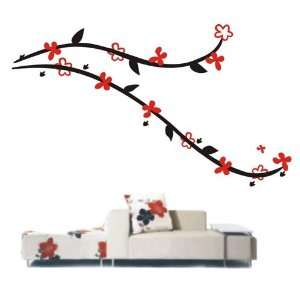 Easy instant decoration wall sticker decor  12 flowers