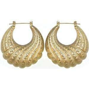 1.75 Vintage 1980S Door Knocker Earrings In Gold Jewelry