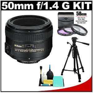 Nikon 50mm f/1.4G AF S Nikkor Lens with 3 UV/FLD/CPL