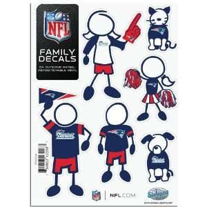 BSS   New England Patriots NFL Family Car Decal Set (Small