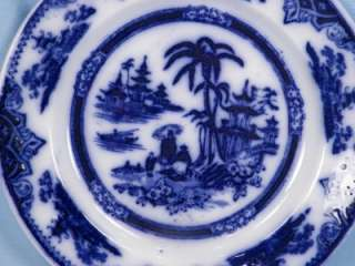 Antique Honc Flow Blue Plate Circa 1900 P Regout & Co GOOD CONDITION