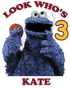Custom Sesame Street Cookie Monster Birthday Shirt Gift