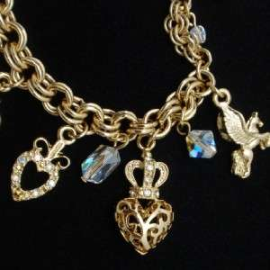 Kirks Folly Charm Bracelet Converts to Necklace Combination 2 in 1