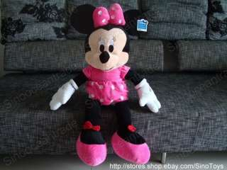 COUPLE OF JUMBO MICKEY MOUSE AND MINNIE MOUSE PLUSH 35