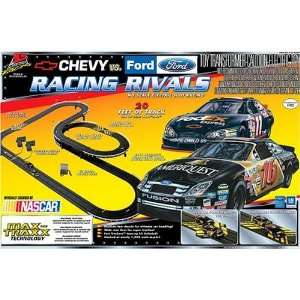 Racing Chevy vs Ford Racing Rivals Slot Car Set  HO Scale Toys