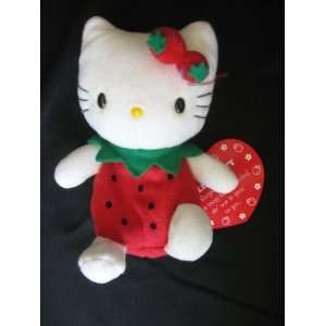 1998 Sanrio Hello Kitty 6 Plush/Bean Bag Strawberry Girl