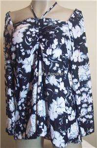 Everyday Womens Plus Size Clothing Black White Shirt Top Blouse XL 1X