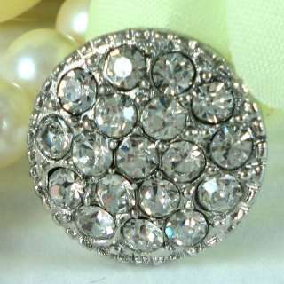 Sparkling Clear Crystal Rhinestone Buttons #S433