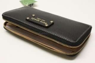 SPADE Wellesley Neda Leather Zip Around Wallet   Black / New With Tag