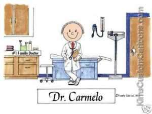 CUTE* Personalized Doctor Cartoon Great Gift Idea!
