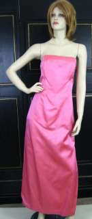 Jessica McClintock Pink Jewel Bead Vtg 80s PROM PARTY Cocktail Dress M