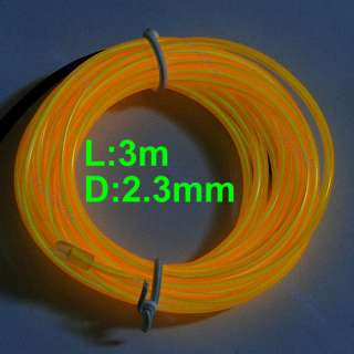 3M Flexible Neon Light Glow EL Wire Rope Tube Car Dance Party