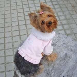Dog Apparel   Acacia PomPom Coat   Color Pink, Size S