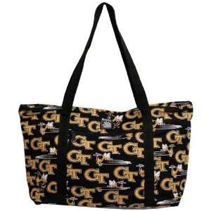 Georgia Tech Yellow Jackets Black Deluxe Tote Bag Sports