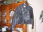 Police style Leather  Motorcycle Biker Chopper Bobber Rat Jacket