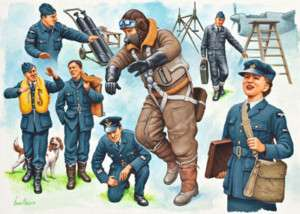 Revell G Germany WWII Royal Air Force Pilots and Ground Crew figures 1