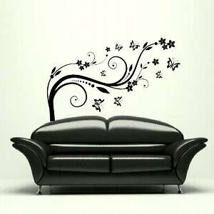 LOVELY FLOWER ROSE DESIGN WALL ART STICKER DECAL kids vinyl stencil