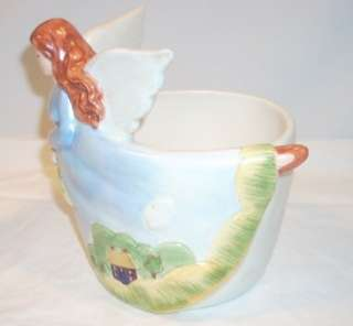 Russ Ceramic Pottery Decorative Angel Planter Vase