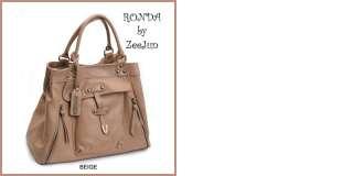 KOREA] NEW Genuine Leather Shoulder Tote Hand Bag Purse   RONDA