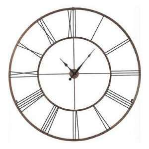 Large Dynasty Gold Open Roman Numeral Wall Clock Iron 50 X 1 X 50