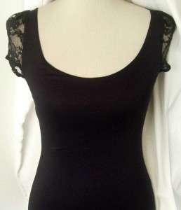 NEW URBAN Black LACE BACK Retro PENCIL Mini MOD DRESS M