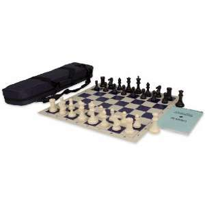 Tournament Chess Set Package Black & Ivory   Blue Toys & Games