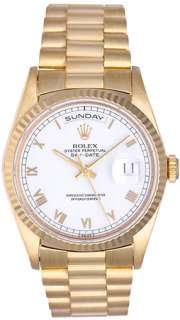 Rolex President Day Date Mens Gold Watch 18238