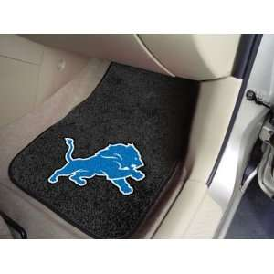 Detroit Lions NFL Car Floor Mats (Front) Automotive