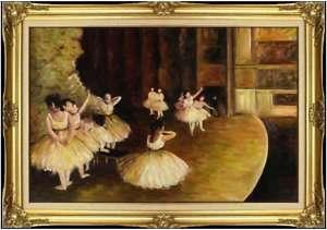 Framed Hand Painted Oil Painting Repro Edgar Degas The Rehearsal