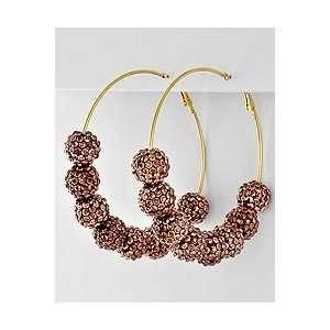 Basketball Wives Bronze Hoop Earrings