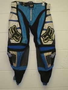 Fox racing Pants blue black white motocross motocycle dirt bike