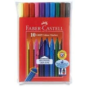 Faber Castell Grip Colour Marker Pens   Grip Colour Markers, Set of 10