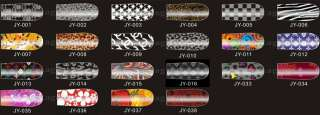12pcs Nail Art Fashion Sticker Colorful Patch Foils Armour wraps
