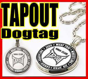TAPOUT MMA CLUB LUXURY CIRCLE DOG TAG PENDANT NECKLACE