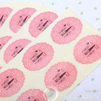 130pcs Doily transparent Stickers Packing Materials )