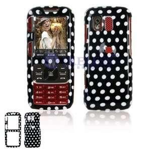 Samsung M540 RANT Cell Phone Black/White Polka Dot Design