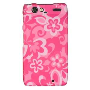 For Motorola DROID RAZR HARD Case Snap On Phone Cover Pink Combo
