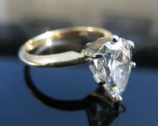 PEAR CUT 1.82CT SOLITAIRE DIAMOND ENGAGEMENT RING 14K YELLOW GOLD SIZE