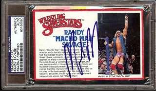 WWF RANDY SAVAGE MACHO MAN SIGNED LJN CARD RARE PSA/DNA