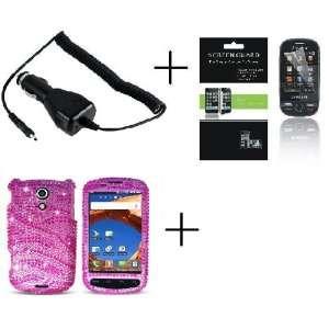 SAMSUNG EPIC 4G GALAXY S PRO Pink Zebra Full Diamante Premium Designer