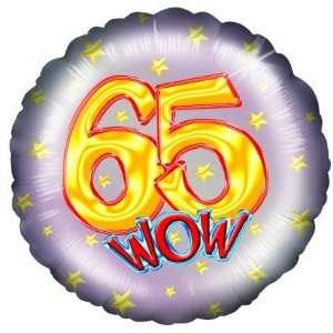 : Partyexplosion Wow 65Th Birthday 18 Inch Foil Balloon: Toys & Games