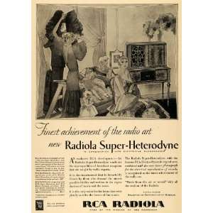 Ad Radio victor Corporation of America RCA Deco   Original Print Ad