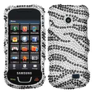 Black Zebra Skin Diamante Protector Cover for SAMSUNG