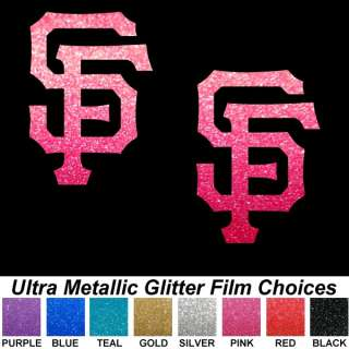 Giants SF PINK ULTRA METALLIC 3 Auto Car Window Decals