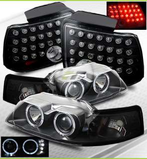 Mustang BLK Halo Projector Headlights/LED Tail Lights
