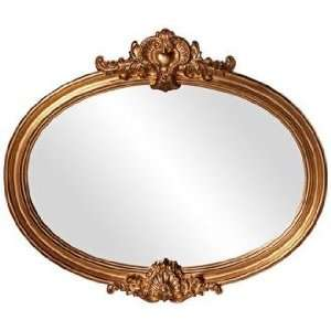 Howard Elliott Piedmont 40 Wide Gold Oval Wall Mirror
