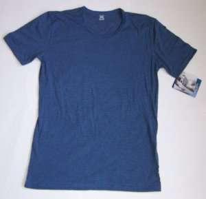 JOCKEY Men Crewneck T Shirt Medium Blue Gray Stripe NEW