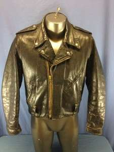 HARLEY DAVIDSON THICK LEATHER MOTORCYCLE/BIKER JACKET MENS M/L